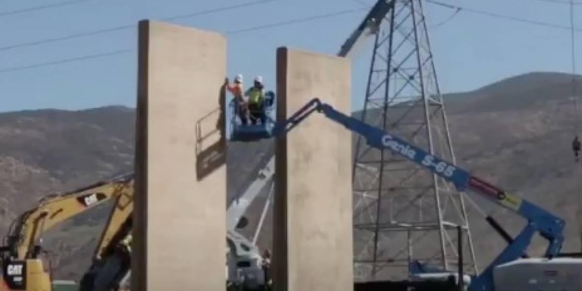 VIDEO: Así construyen los prototipos del muro fronterizo