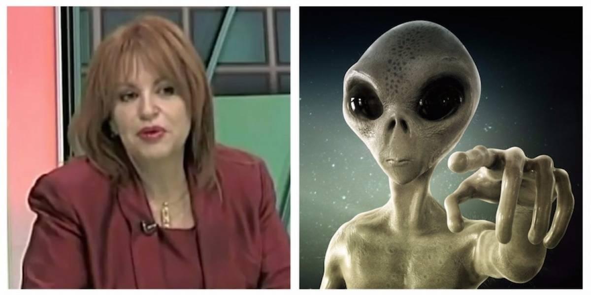 Candidata reacciona a reportaje de que se la llevó nave espacial