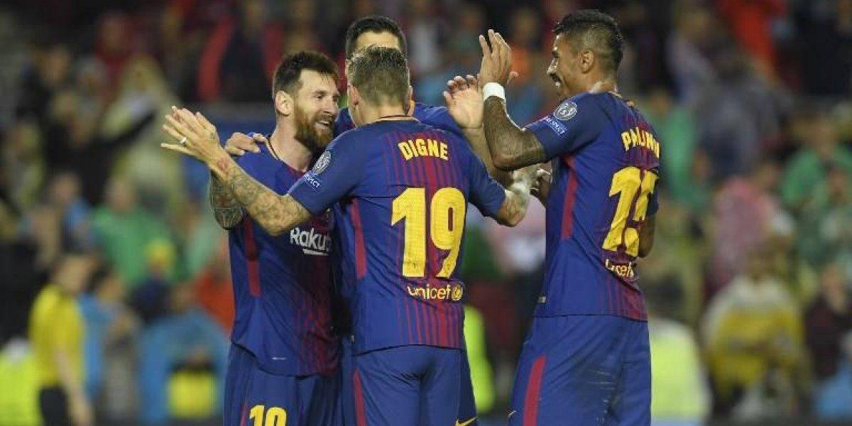 Barcelona dio otro recital de goles y fútbol en la Champions de la mano de Messi