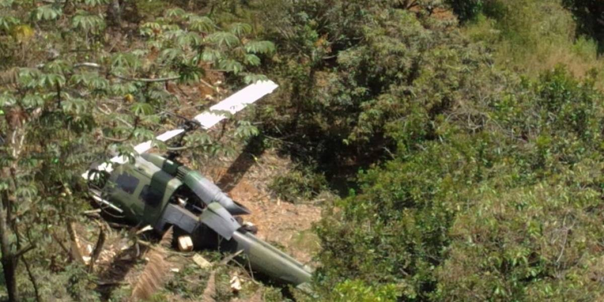 Accidente de helicóptero militar en Colombia
