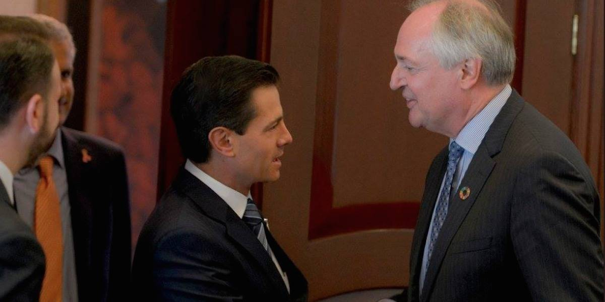Peña Nieto se reúne con Paul Polman, director ejecutivo de Unilever
