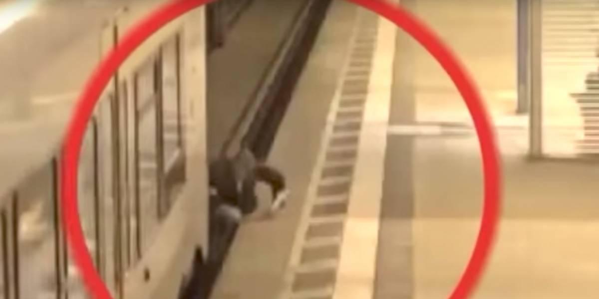 Un hombre sobrevivió casi muere arrollado por un tren