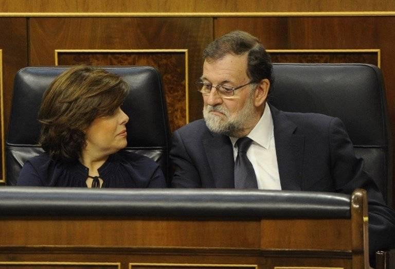Soraya Sáenz y Mariano Rajoy