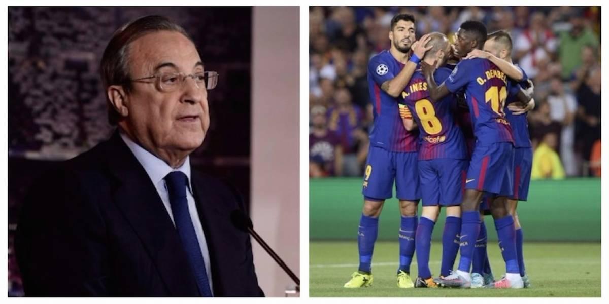 Florentino Pérez rompe el silencio sobre la posible salida del Barça de LaLiga