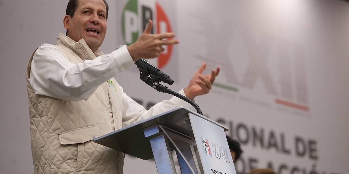 Eruviel Ávila toma protesta como nuevo dirigente del PRI en la CDMX