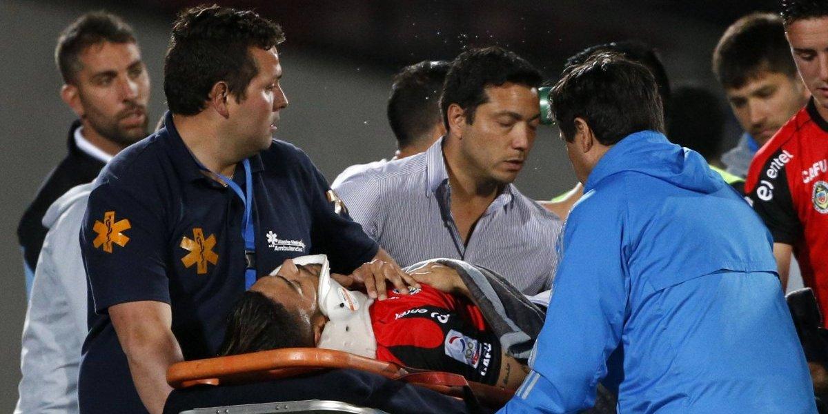 La fuerte caída de Paulo Magalhaes lo dejó con una herida en el pulmón