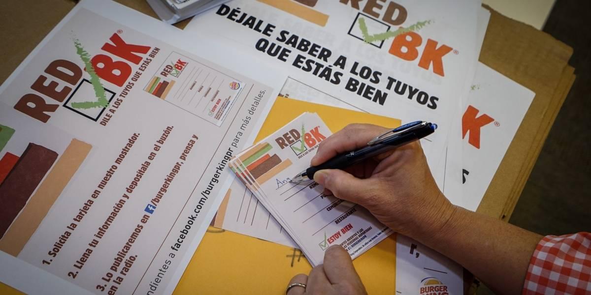 Burger King activa la Red BK para facilitar la comunicación de las familias en Puerto Rico tras el paso del huracán María.