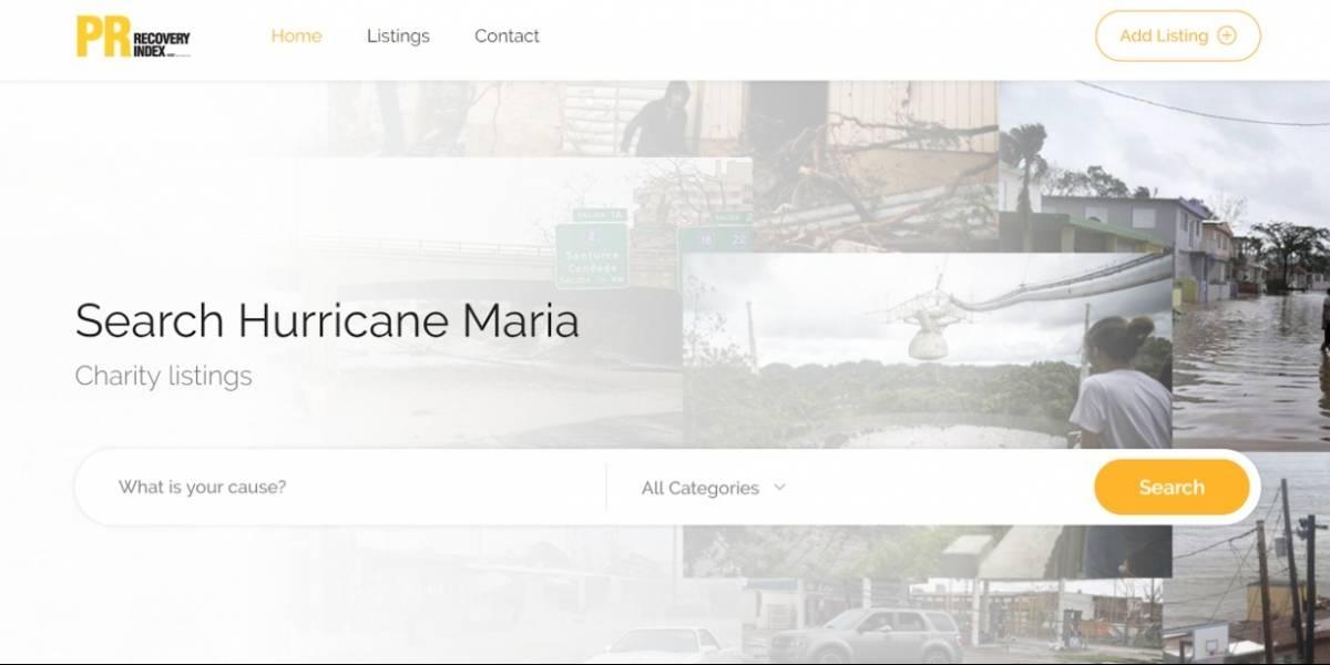 Crean guía electrónica de ayudas damnificados de María