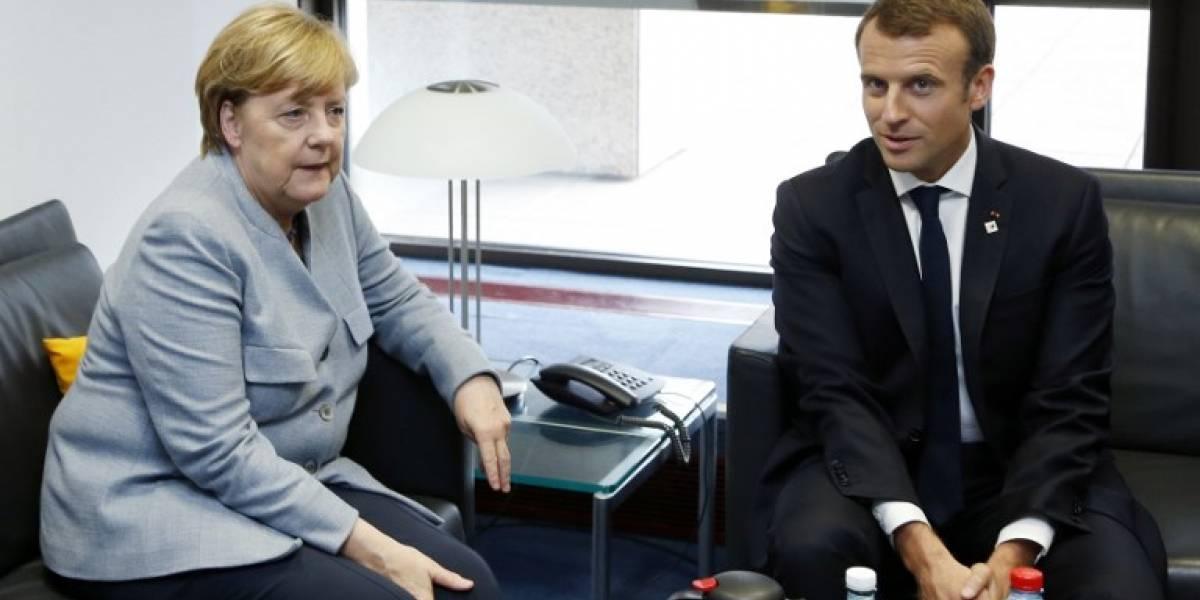 Merkel y Macron reafirman su apoyo a Madrid y la unidad en crisis catalana