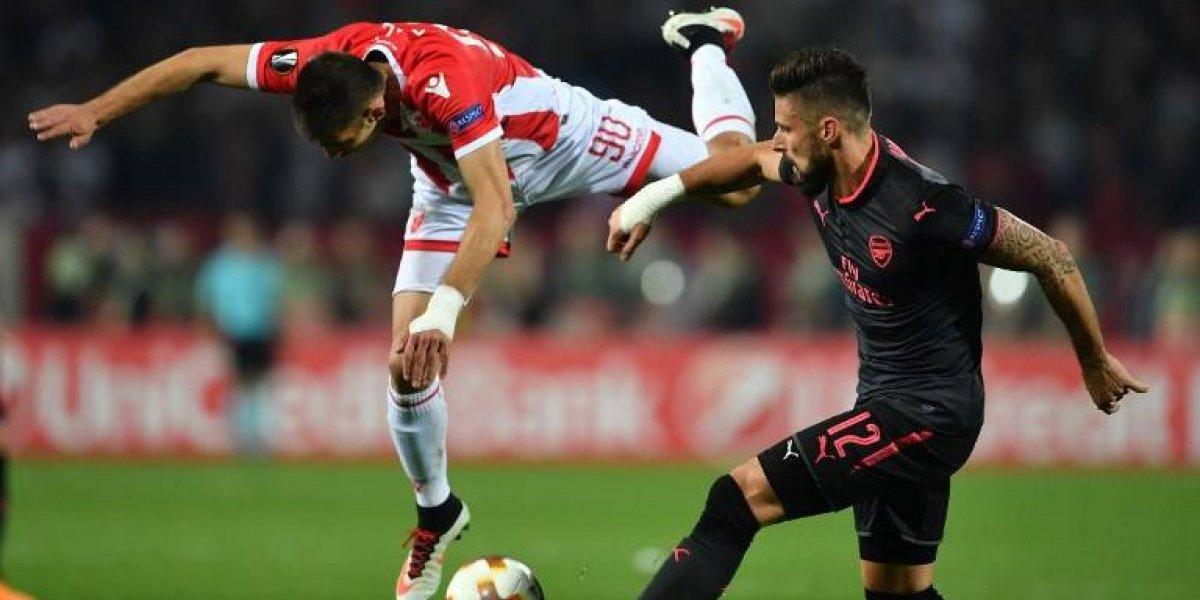 Una genialidad de Giroud impulsó al Arsenal que no necesita a Alexis en la Europa League