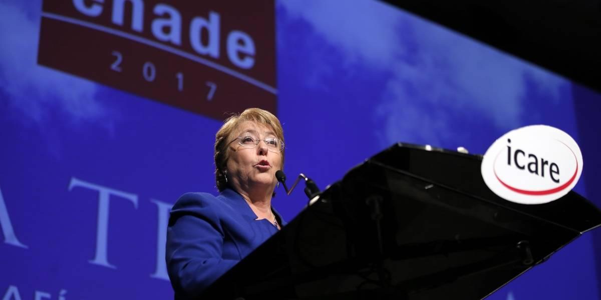 """Bachelet en Enade: """"Vamos a entregar una economía en franca recuperación"""""""