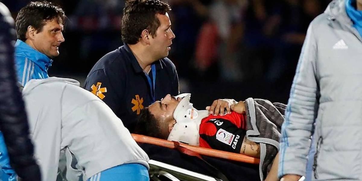 Pasó el susto: Paulo Magalhaes será dado de alta este viernes tras fuerte caída ante la U