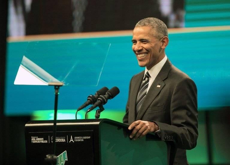Barack Obama dando un discurso