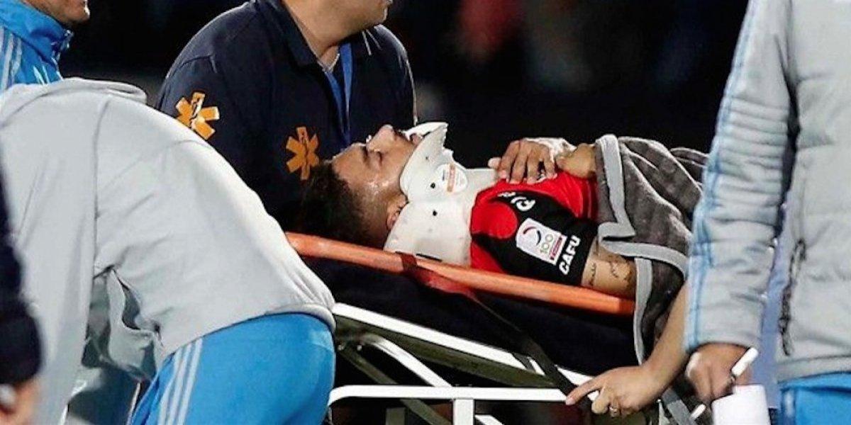Brasileño del Antofagasta resulta gravemente herido tras caída durante partido