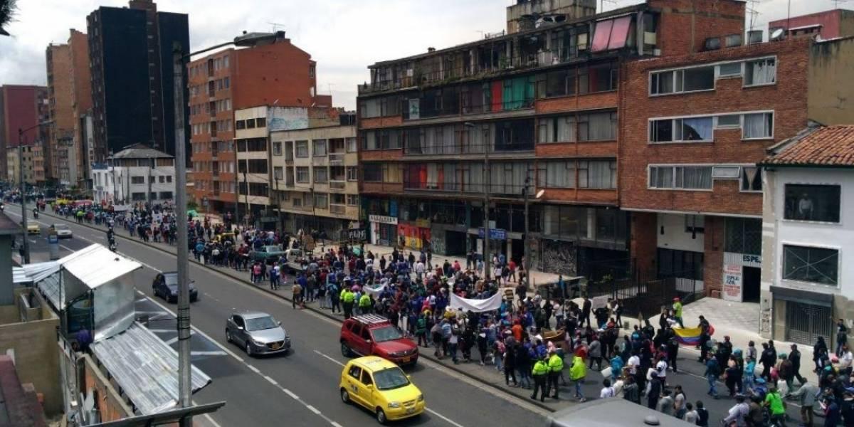 Recicladores de Bogotá marchan contra decisiones de la Alcaldía