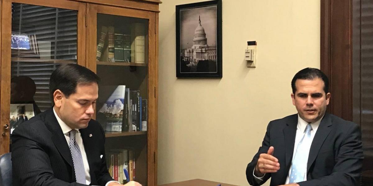 Rosselló se reúne con el senador Rubio