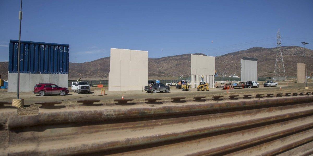 Preparan los últimos detalles de los prototipos del muro en la frontera