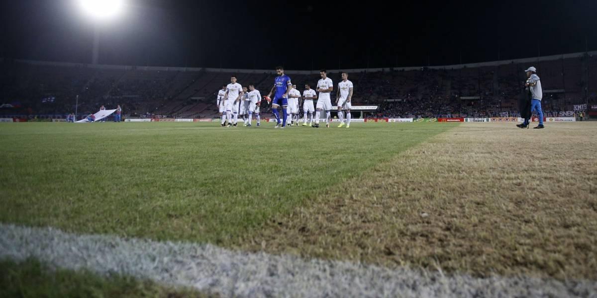 Trastienda del triunfo azul: El reencuentro de Monzón con Romo fue en la desastrosa cancha del Nacional