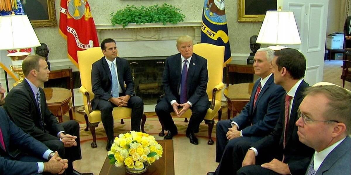 Se reúnen en Casa Blanca Rosselló y Trump