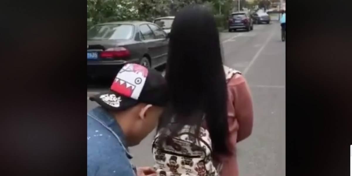 """Video viral del estilo de una asiática que sorprendió a un """"ladrón"""""""