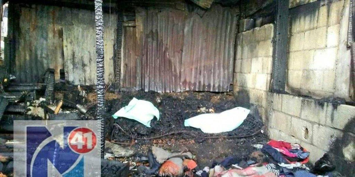 Dos niños mueren calcinados en su vivienda en Amatitlán
