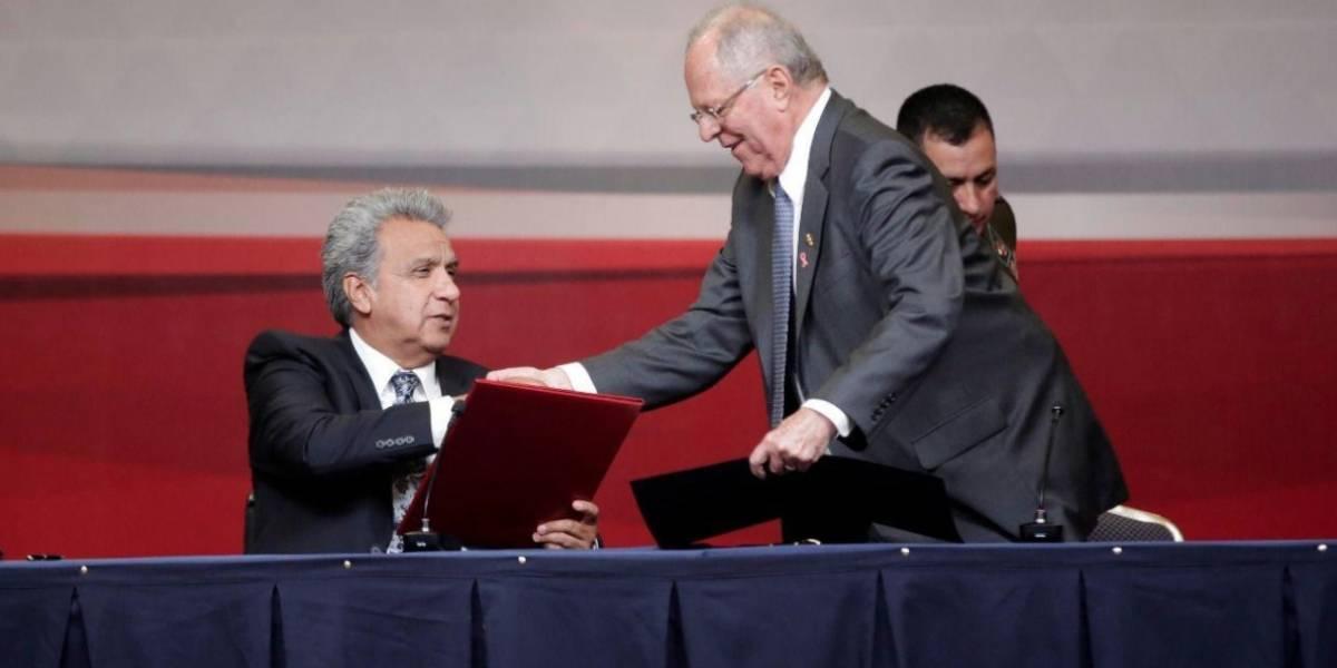 Ecuador y Perú suscriben Declaración de Trujillo y acuerdos de cooperación