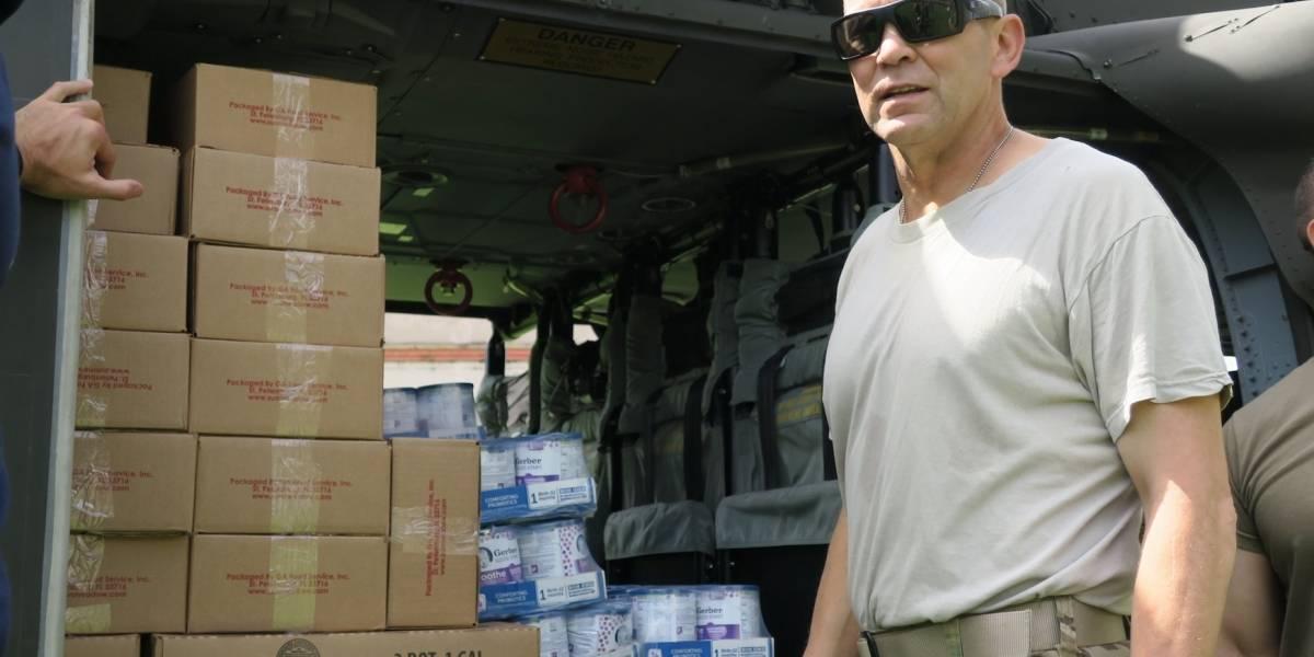 Jeffrey Buchanan asegura que el agua y comida ha llegado a los 78 municipios