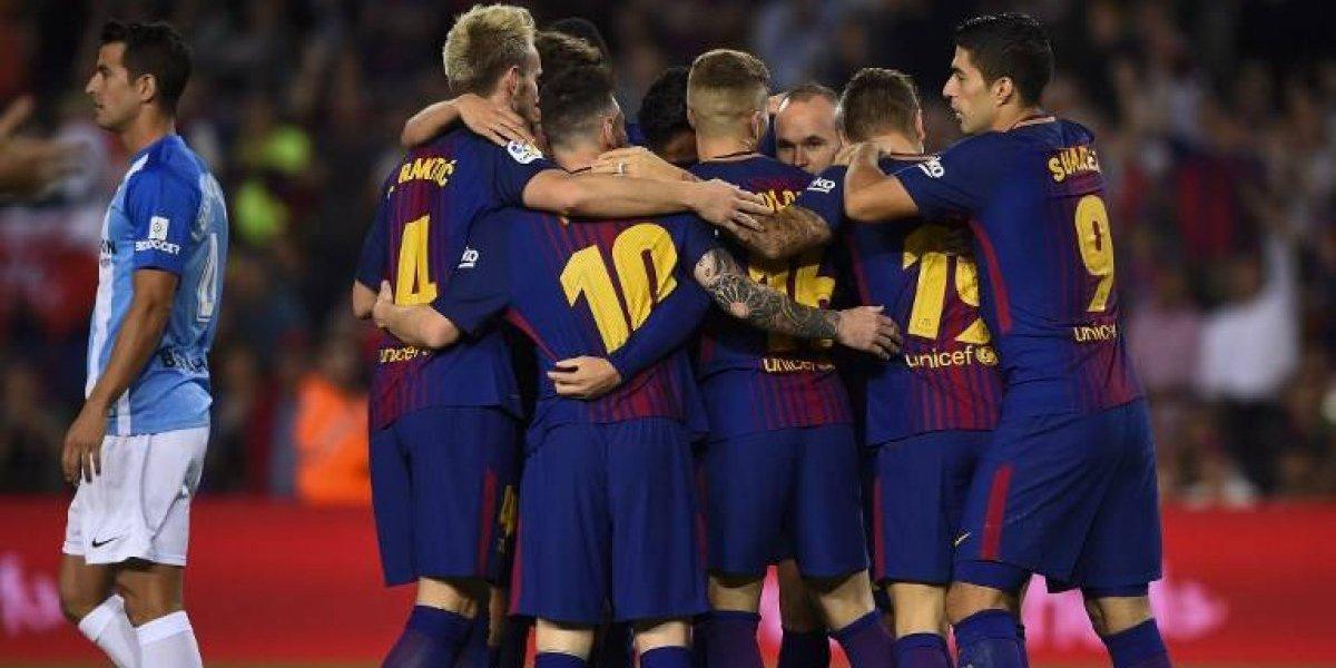 Barcelona se impone al Málaga en un partido con polémica