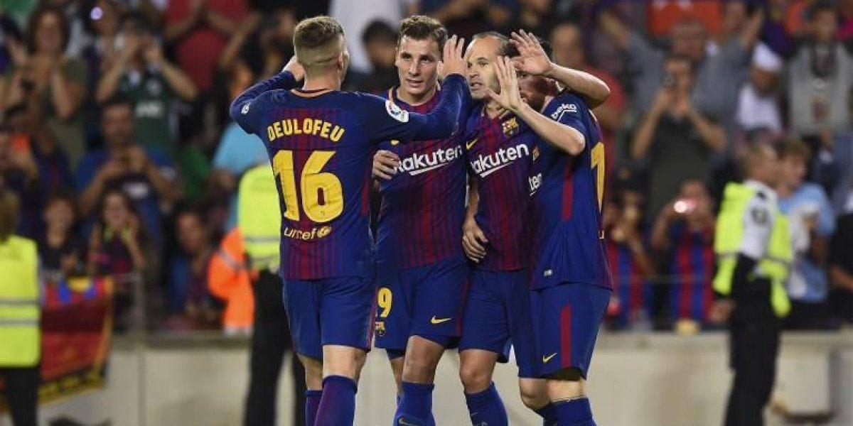 Barcelona ganó con un polémico gol incluido y se afianza en el liderato