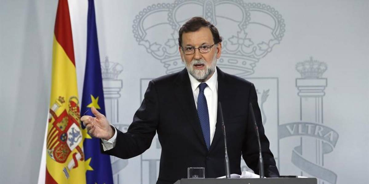 """Gobierno español anuncia el cese de Puigdemont y convoca a elecciones en Cataluña en """"un plazo máximo de 6 meses"""""""