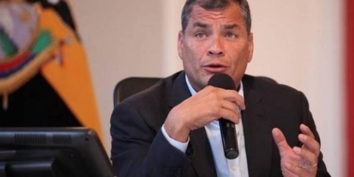 Rafael Correa compartió polémico tuit sobre Lenín Moreno