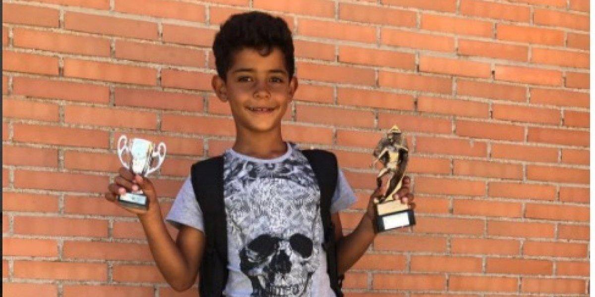 Cristiano publica un video de un gol anotado por su hijo, Cristiano Jr.