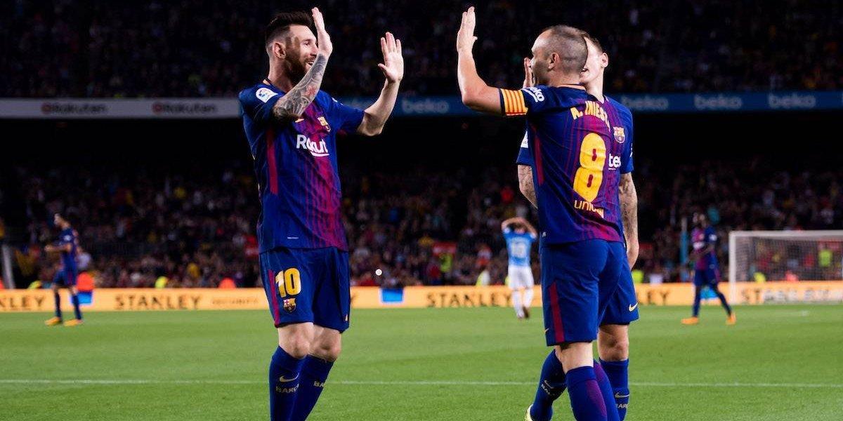 Con polémico gol, Barcelona vence 2-0 al Málaga en La Liga
