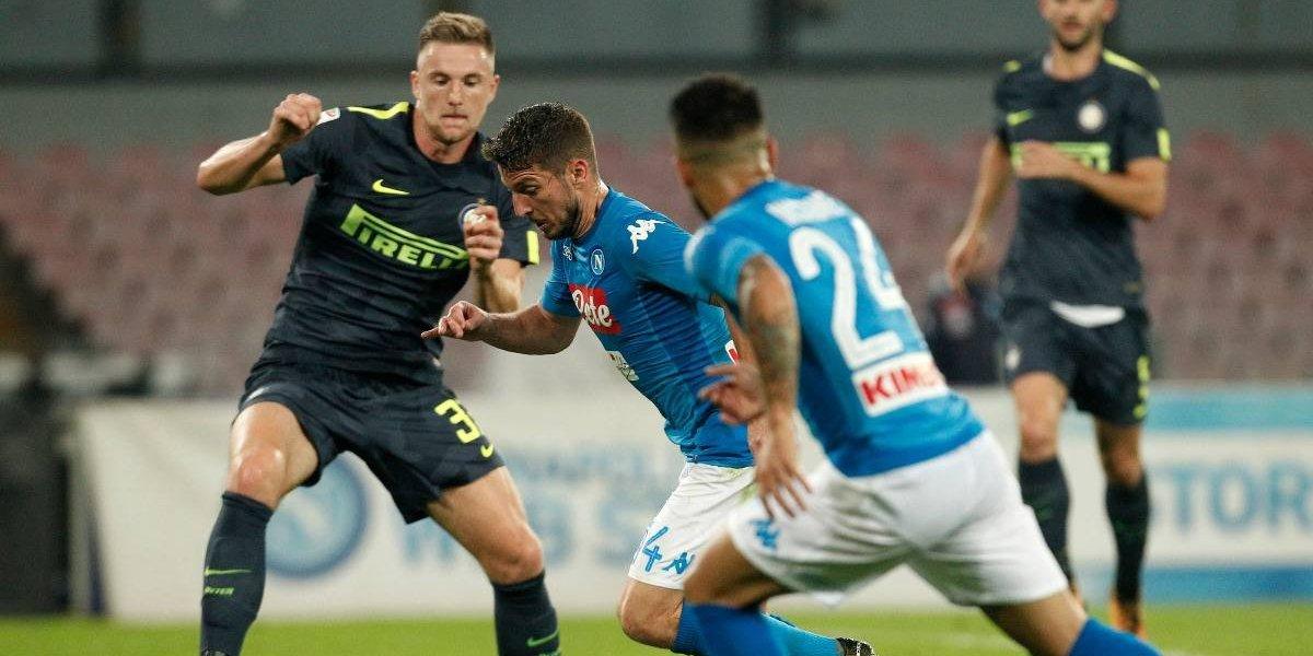 Napoli termina su racha de triunfos, pero sigue puntero en Italia