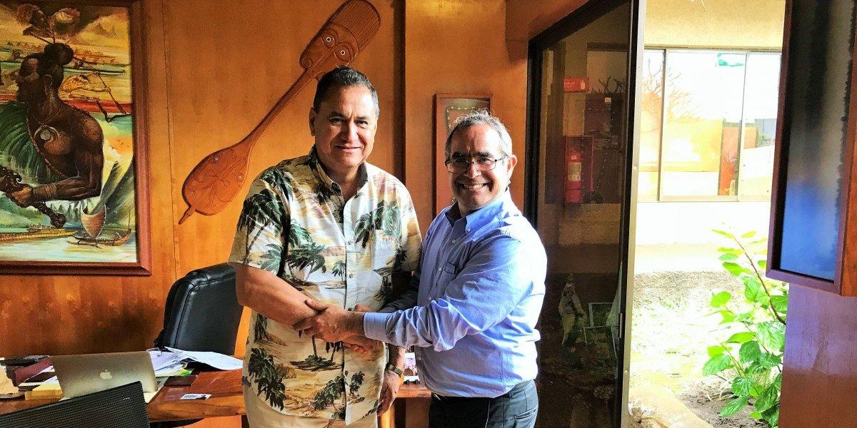 Candidato a senador elige Rapa Nui como punto de partida de su campaña