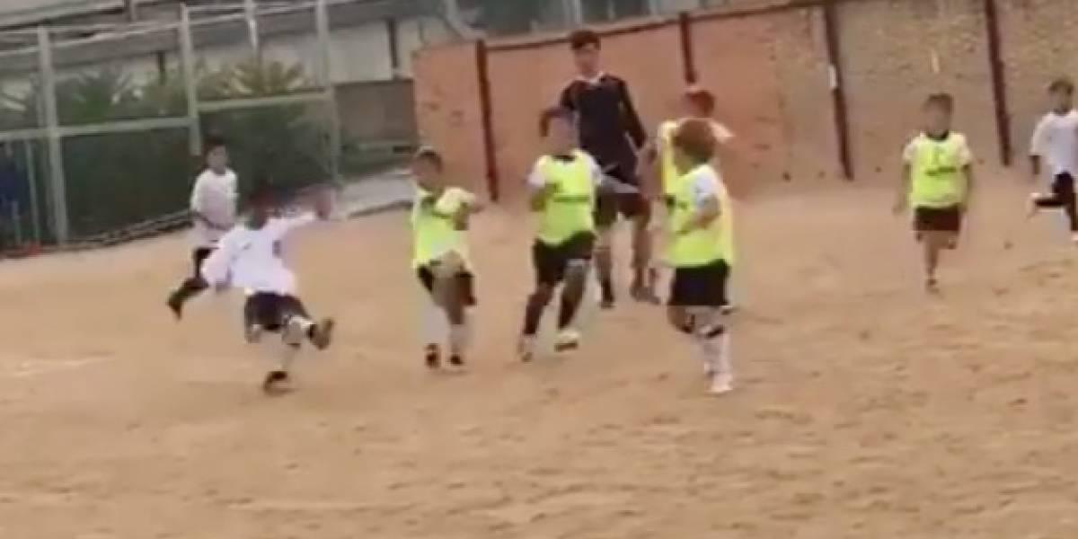 VIDEO: Vaya golazo de Cristiano jr y así reaccionó su padre