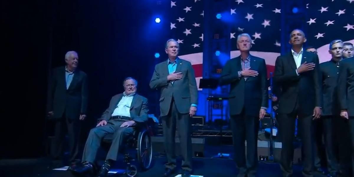 Ex presidentes de EU se unen en concierto por víctimas de huracanes