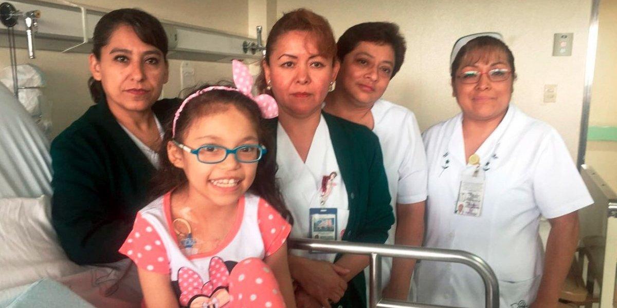 Ella es Mariana, la pequeña que fue operada durante sismo