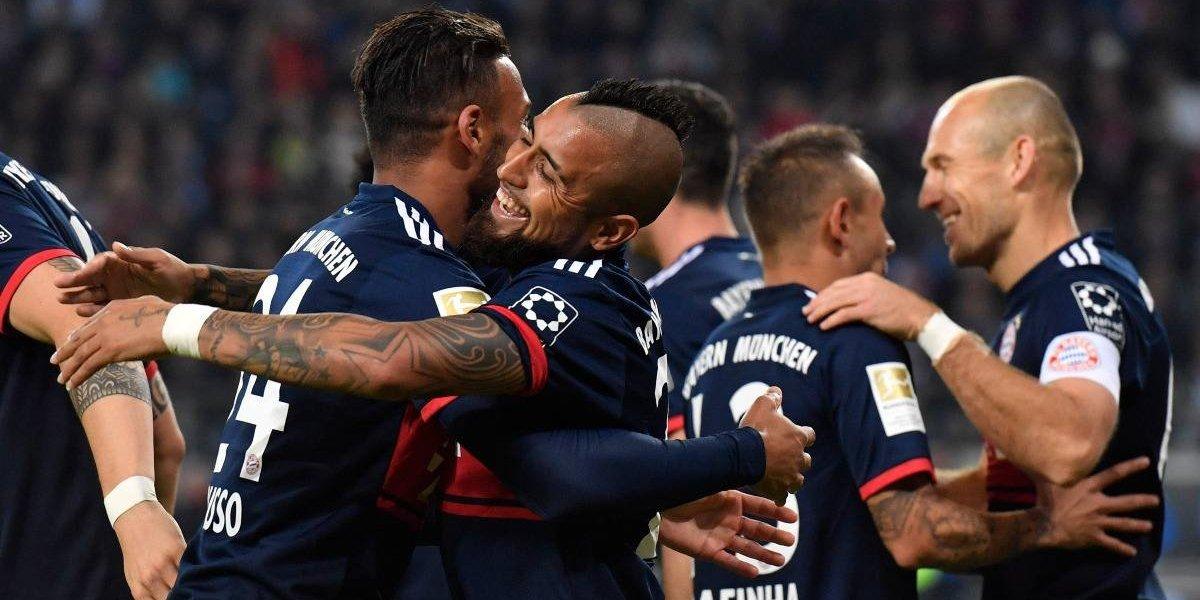 Vidal volvió la titularidad en un Bayern Munich que recupera el liderato