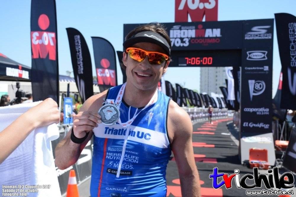 Iván Álvarez completó el Ironman de Coquimbo en casi siete horas
