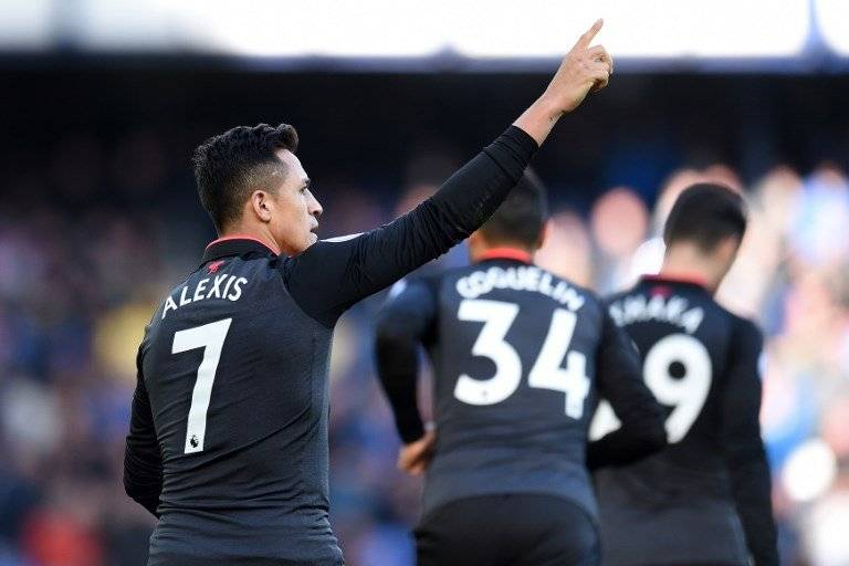 Alexis maravilló en Arsenal/ imagen: AFP