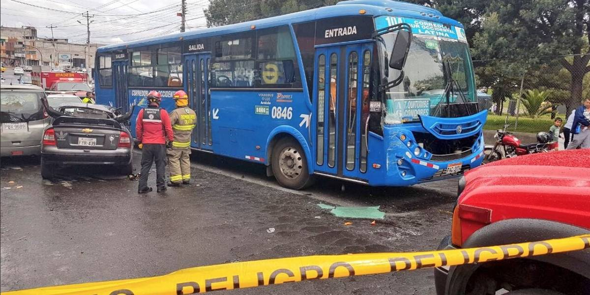 Se registra accidente de tránsito al sur de Quito