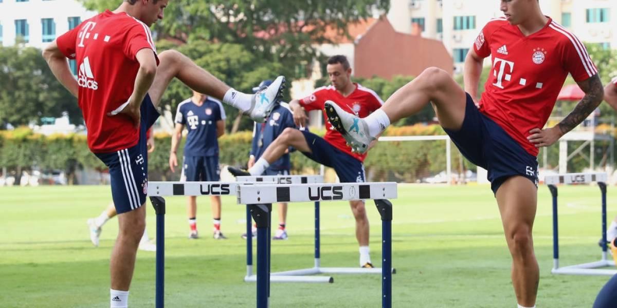 Thomas Müller le daría su espacio a James por su larga lesión