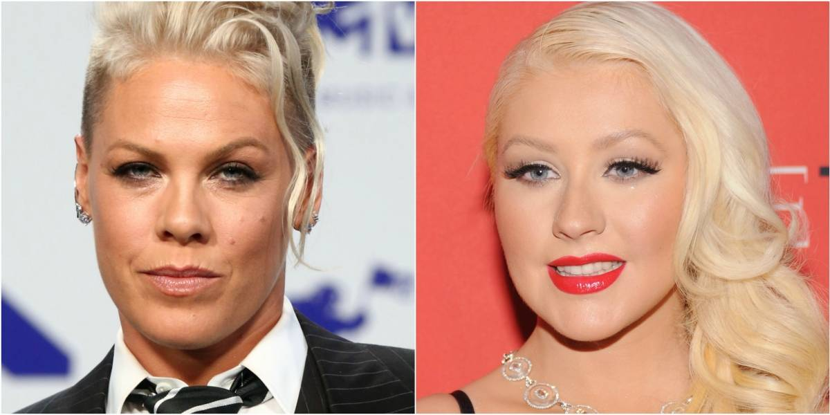 Pink reveló que Christina Aguilera intentó golpearla una vez