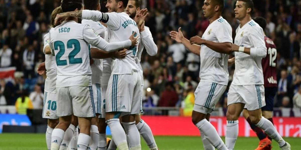 El Real Madrid vence al Eibar y escala posiciones en LaLiga