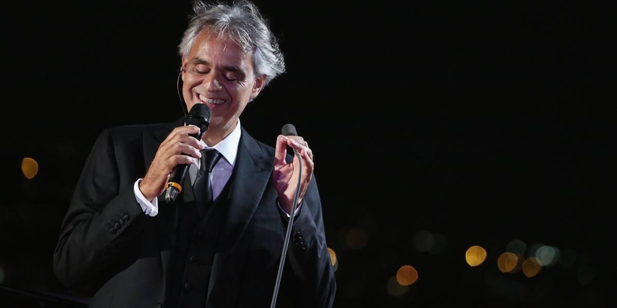 Andrea Bocelli fará shows em três cidades do Brasil em 2018