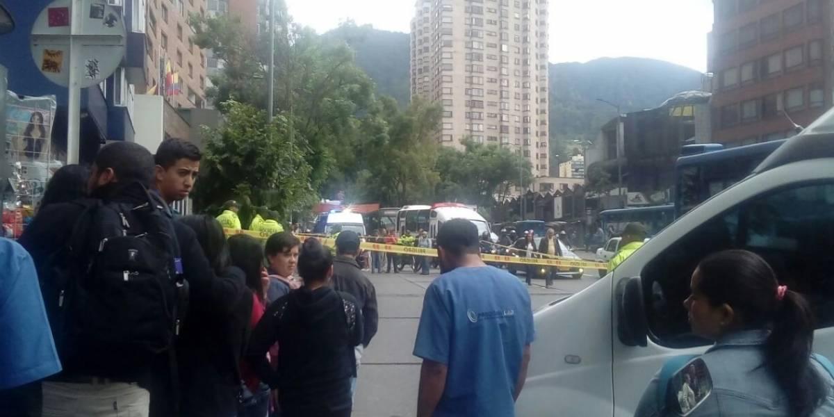 Video: así fue el intento de robo a un banco en el centro de Bogotá que terminó en balacera