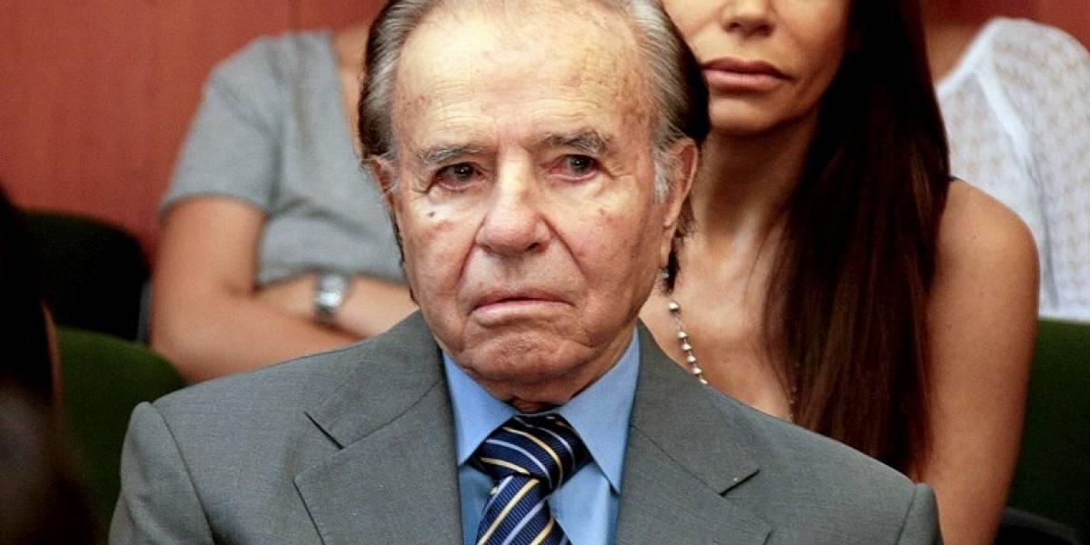 Expresidente Menem reelegido senador en Argentina