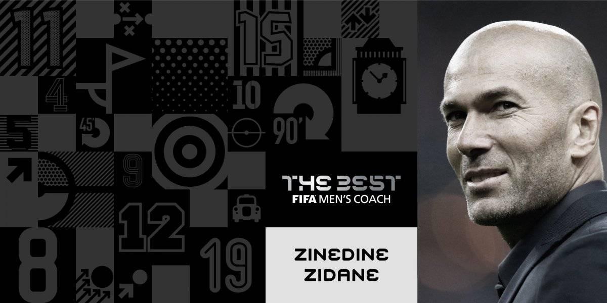 Zinedine Zidane, ganador al Mejor Técnico del Año