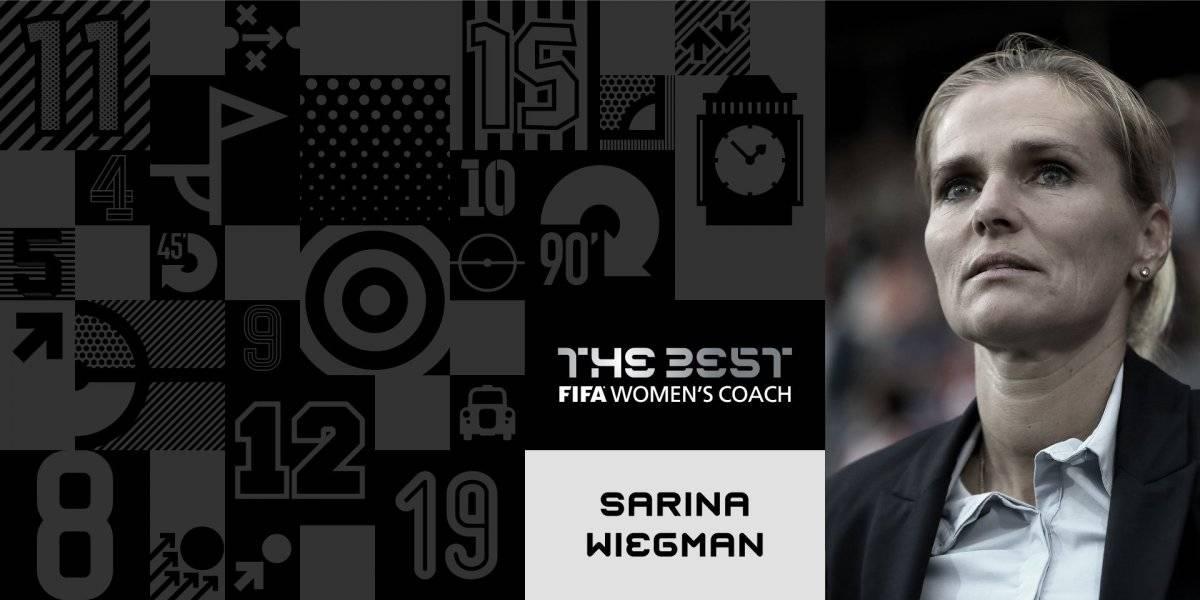 Sarina Wiegman, ganadora al mejor entrenador femenino